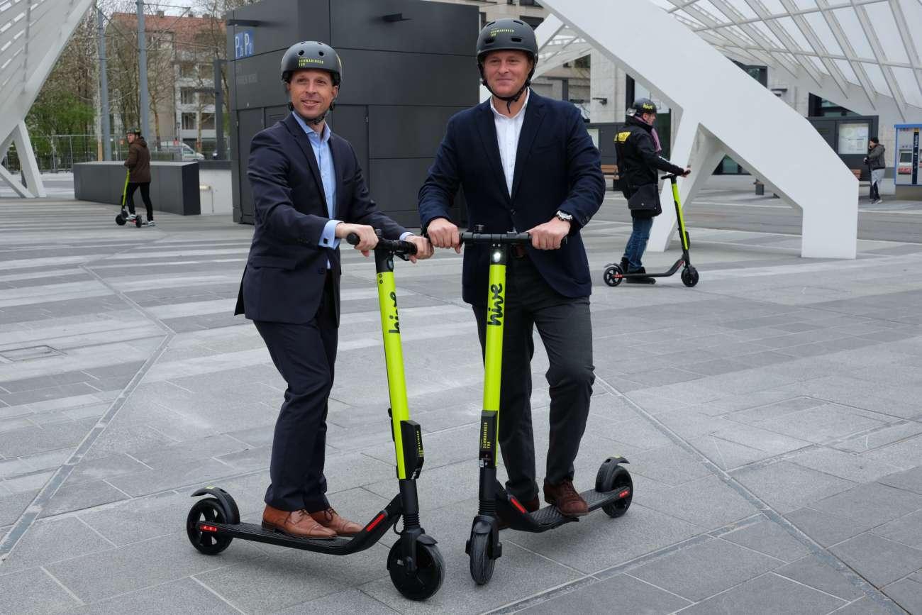 Free Now und hive starten Kick-Scooter-Sharing in München
